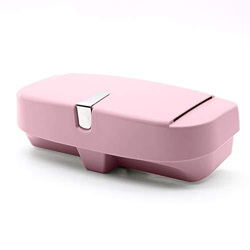 LULUKEKE Autosäugchen, Brillen-Holder-Box mit Magnetic Suction Area | Karteneinführerbereich, Sonnenbrillen-Bereich,Pink