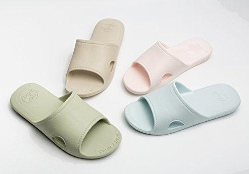 Haus Hausschuhe Männer und Frauen Dusche Sandale Slipper Indoor Slide Bad Schuhe Unisex für Bad Boden Pool Gym (EU 41-42, Khaki) (Slipper Womens Slide)