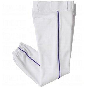 YOUTH Side Seam Piping Baseball/Softball Pants (White, Grey Pants. Black, Navy, Royal, Red Piping) (White/Royal Piping, Youth Medium (24-26)) by Authentic Sports Shop