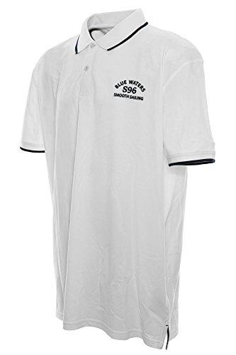 Kitaro Herren Poloshirt Weiß