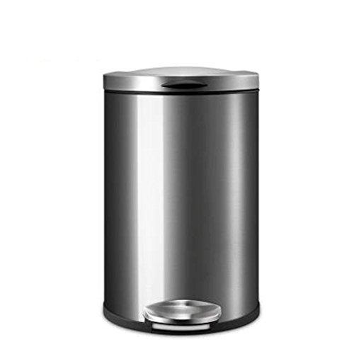 BMKY Mülltonnen Silent-Abfalleimer Edelstahl Trash Haushalt Mülleimer Küche Badezimmer Schlafzimmer Wohnzimmer Büro Trash ( Farbe : 1 )