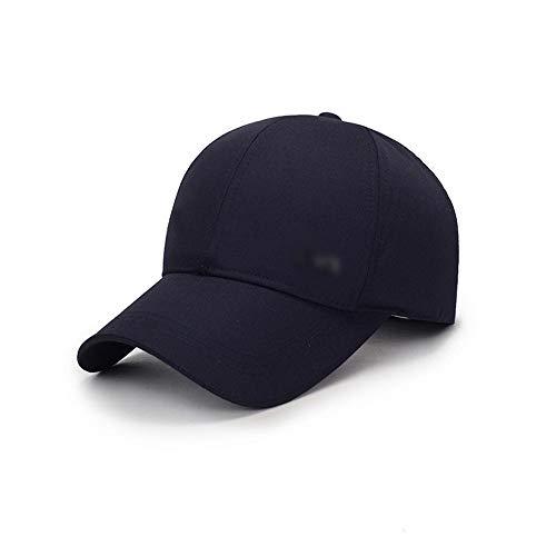 A/N Hat Smart-Hip-Hop-Baseball-Cap Cotton Schnell trocknend Hat Geeignet for Freizeit Outdoor Familienausflug Wandern Laufen mit veränderbarer Länge Fashion (Color : Navy)