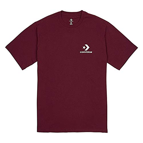 Converse Left Chest Star Chevron Tee DK Burgundy T-Shirt Herren, Bekleidungsgröße:XL