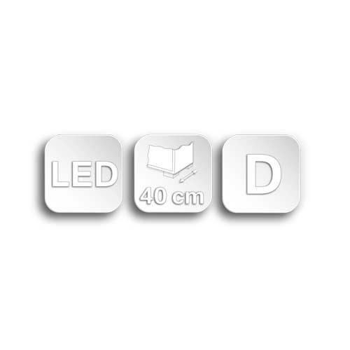 Kommode in Sanremo Sand NB, inkl. LED-Beleuchtung, 2 Türen, 2 Mittelseiten, 4 Einlegeböden, davon 2 beleuchtet,Maße: B/H/T ca. 125/88/40 cm - 3