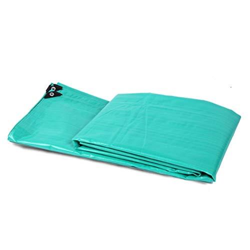 ZHANGGUOHUA Plane wasserdicht Sonnencreme verdicken regendichtes Tuch im Freien LKW Leinwand Regenschutz Dreirad Poncho 8x10m (Color : Green, Size : 8x10m)