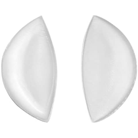 SODACODA Crescent Silicone Inserts Chicken Fillets Breast Enhancers For Bras Swimsuits and Bikini - Create maximum cleavage suitable for A, B, C and D Cups - Clear Colour 180g/pair - High Quality