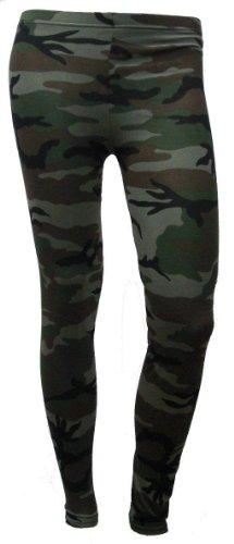 Nuovo formato delle signore della caviglia Leggings elasticizzati modelli del camuffamento Donne 7 colori 36-42 camouflage 2