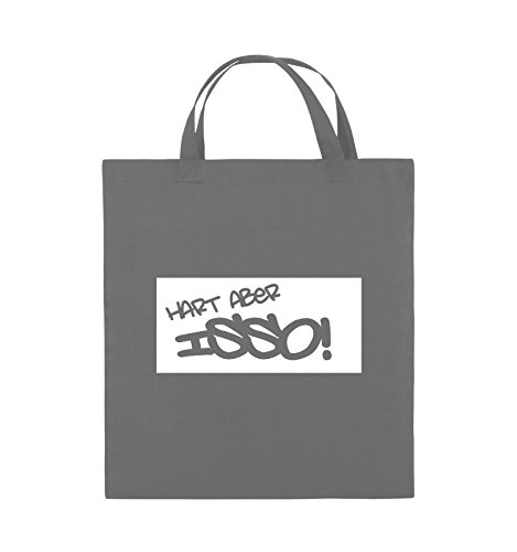 Borse Da Commedia - Difficile Ma Isso! - Borsa In Juta - Manico Corto - 38x42cm - Colore: Nero / Rosa Grigio Scuro / Bianco