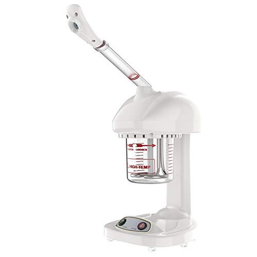 Vaporizador de cara, 220V ozono profesional Máquina de pulverización aceite esencial Vapor facial Cuidado de la piel humidificador cuidado de la piel Sauna Facial para el hogar, salón, spa