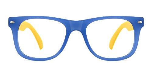 TIJN TIJN Kinder Gläser Rahmen Mädchen Jungen Nicht Verschreibung Klar Linse Kinder Brillengestell Frauen und Mädchen 6-12 Jahre