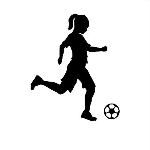 (Hwhz 45X54 Cm Kleines Mädchen Fußball Spieler Aufkleber Sport Fußball Auto Aufkleber Helme Kinderzimmer Name Poster Vinyl Wandtattoos Fußball Aufkleber)