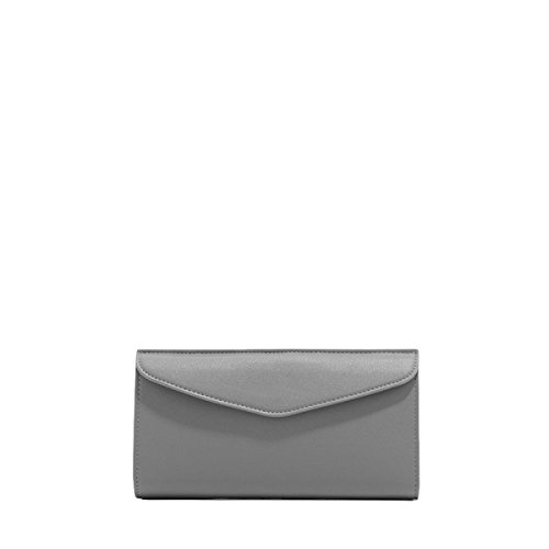 Lange Brieftasche Holding Beutel Damen Tasche Einfache Umschläge Brieftasche Brieftasche Freizeit Mode Grey