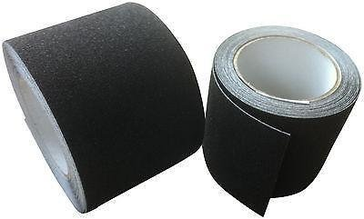 Anti Slip Tape High Grip Adhesive Backed Non Slip Tape - Black - 25mm - 18 Metre