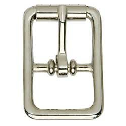 Center Bar Roller Buckle Nickel Plated Leather Decorative Accent Tandy 1512-10