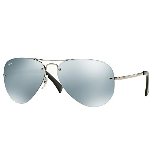 Ray-Ban RB3449 Sonnenbrille Silber Silber-Flash