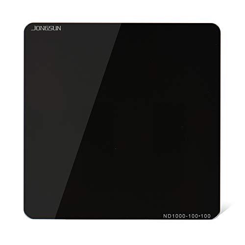 JONGSUN S-PRO 100x100mm Rechteckfilter Quadratische ND Filter, ND1000 (3.0) 10-Stop, Square Grauer ND1000 Neutral Density, HD 18-Schicht Nano-Mehrfachvergütung, Schott B270 Optikglas - 3 Stop-nd-filter