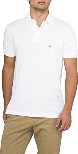 Tommy Hilfiger Herren Poloshirt, Gr. XXL, Weiß (Classic White 100) (Gestickte Pique Polo-shirt Herren)