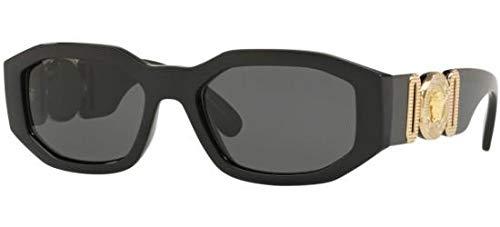 Ray-ban 0ve4361 occhiali da sole, nero (black), 53 unisex-adulto