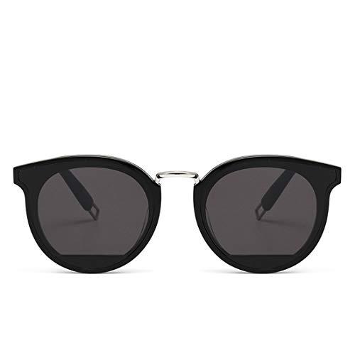 Yiph-Sunglass Sonnenbrillen Mode Damen Sonnenbrille Katzenaugen Acetat Fiber Frame Nylon Objektiv UV-Schutz Party Urlaub Sonnenbrille Fahren. (Farbe : Schwarz)