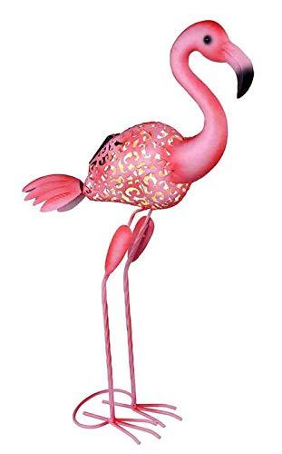 Solarleuchte Garten für Außen Flamingo Solarlampe Gartenlampen Solar (Dekoleuchte, LED, Höhe 74 cm, Metall, Pink) - Pink Garten Flamingo