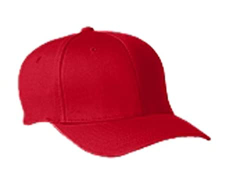6277 Flexfit Wooly Combed Twill Cap - Large/XLarge (Red) (US)