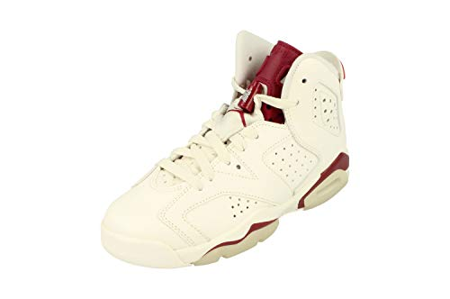 Nike Jungen Air Jordan 6 Retro BG Turnschuhe, Weiß, Rot (Off White/New Maroon), 39 EU