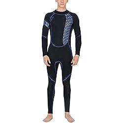 Sodhue Costume de plongée 3mm Mountain Warehouse Combinaison Femme Sport Aquatique Néoprène Confort Séchage Rapide Jaune/Bleu