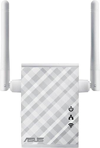 Asus RP-N12 N300 White Diamond WLAN Repeater (802.11 b/g/n, WLAN Reichweitenverlängerung, Power-Schalter, 2 externe Antennen, WLAN Roaming Assist-Technik) weiß