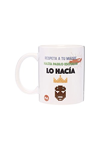 Tic-Clap Taza Respeta a Tu Madre hasta Pablo Escobar, Porcelana, Blanco, 8 cm