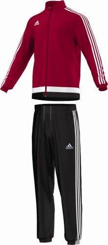 adidas Herren Sportanzug Tiro15 pre Suit Trainingsanzug, Powred/White/Black, XS