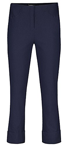 Robell Bella Slim Fit 7/8 Stretchhosen Schlupfhosen Damen Hosen #Bella 09 Collection Frühjahr/Sommer 2017 (36, navy(69)) (Bein Reise-hose Gerades)