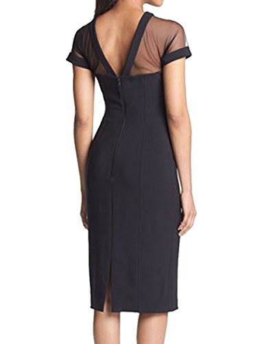 E-Girl femme Noir SY6881-2 robe de cocktail Noir