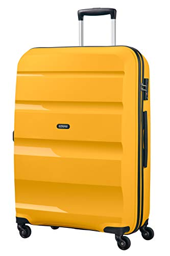 American Tourister Bon Air, Spinner Large Valigia, 75 cm, 91 liters, Giallo (Light Yellow)
