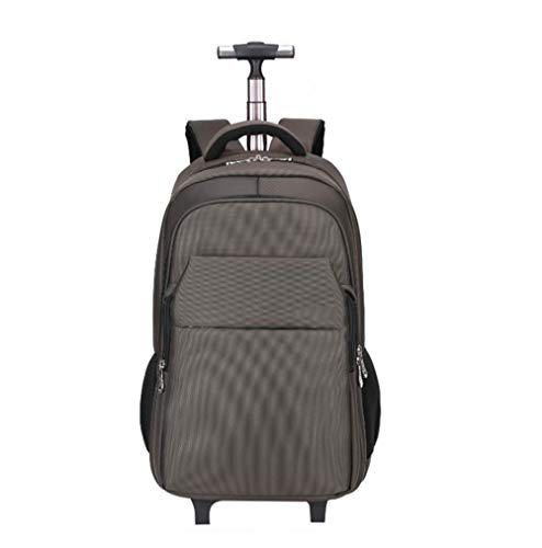 LQSJB Trolley Backpack Super Lightweight Business Travel Wheeled Rolling Laptop PC Tablet Computer Trolley Backpack Suitcase Hand Luggage Cabin Approved Bag -