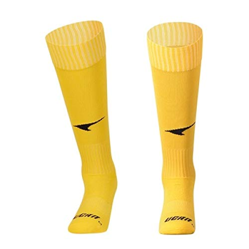 WADUANRUN Erwachsene Baumwolle Lang Fußball Socken für Männer und Frauen LangeFußballsocken professionelle Wettkampfsport rutschen atmungsaktive Socken39-47gelb (Under Armour Kinder Rutschen)