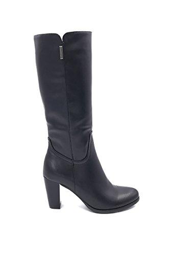 CHIC NANA . Chaussure femme botte à talon en similicuir, dotée d'un bout rond.