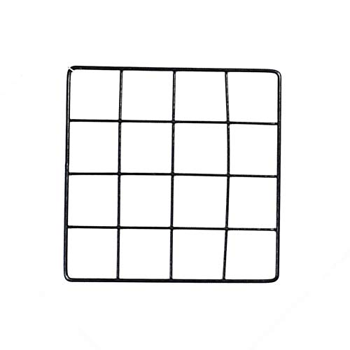 DierCosy Metal Mesh-Wand-Dekor 4 * 4 Grid Panel Display Ständer Multipurpose Eisen Ineinander greifen-Netz Plants Wand Hang Halter Dekoration Gadgets Schwarz (Grid-display-panels)