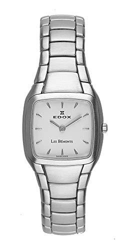 Edox Les Bémonts 28111 - Reloj Cuadrado Ultrafino para Mujer