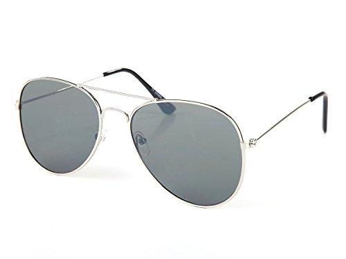 Alsino Pilotenbrille Flat Lens Flat Top Sonnenbrille flache Gläser V-1293-2