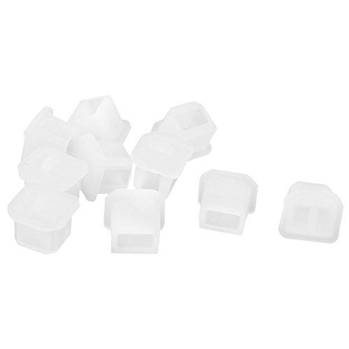 USB Tipo B Hembra Anti Polvo Frena Tapas De Llanta Protector 10 Piezas Transparente