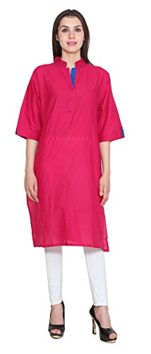 Maple Clothing Inde Longue Kurti Coton Tunique Womens Blouse India Rose