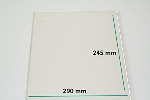 Ofenglas/Kaminglas/Neoceran nach Maß - Alle Maße lieferbar - 290 mm x 245 mm - Direkt vom Glasereifachbetrieb!!!
