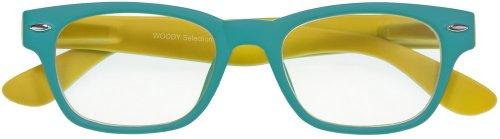 I NEED YOU gafas de lectura Woody Selección / 2:00 dioptrías/Turquesa Amarillo
