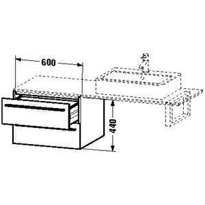 Hickory 2 Schublade (Duravit x-large Waschtisch Unterbau 600x 548Amerikanisches Hickory 2Schubladen)