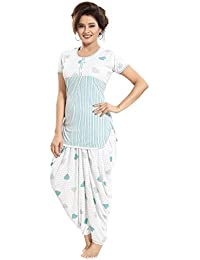 44e1da1974 TUCUTE Top and Dhoti Style Bottom Night Suit/Nighty/Nightdress/Night Gown  for