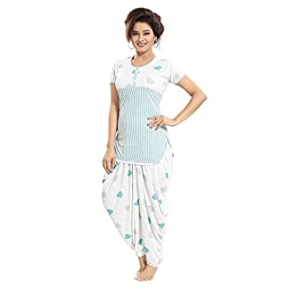 94b30cbd7 TUCUTE Top and Dhoti Style Bottom Night Suit Nighty Nightdress Night Gown  for Women and Girls Size  L XL XXL