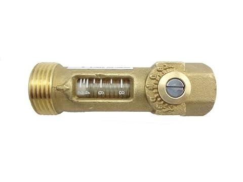 MISOL 1 pcs of Brass Flow Meter Balancing Valve flow sensor/Messing-Durchflussmesser-Auswuchtventil Durchfluss-Sensor