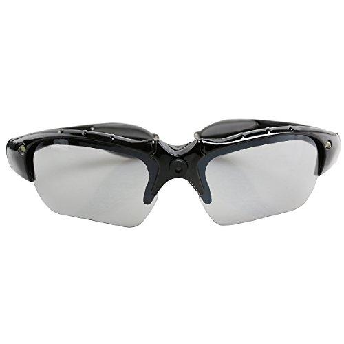 PIXNOR Sportbrillen LED Leuchten Brille Party Brille (Schwarz)
