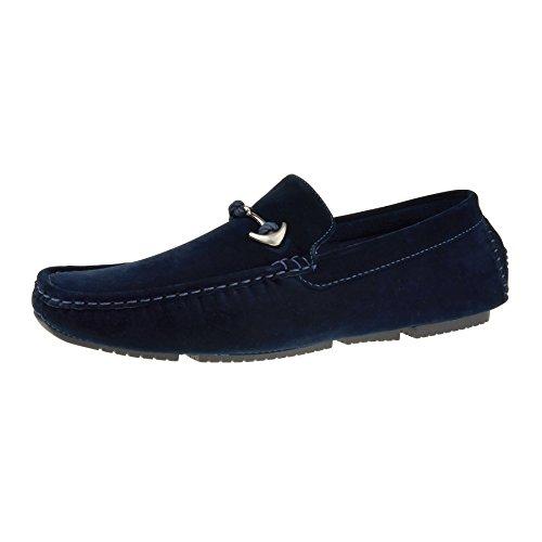 London Footwear - Sandali con Zeppa uomo Blue