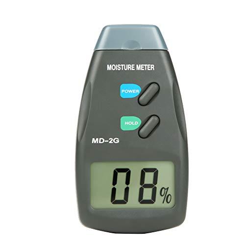 Holzfeuchtemessgerät, Md-2G Lcd Digital 2 Pin Holzfeuchtigkeitsmessgerät Holz Hygrometer Luftfeuchtigkeit Tester Zur Messung Des Wassergehalts Von Holz/Papier/Bambus/Kraut